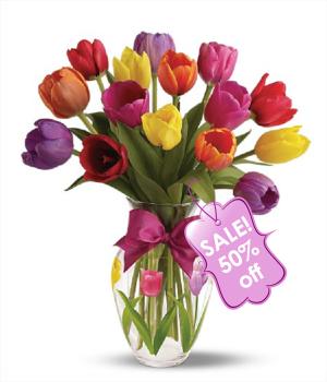 Ramo de 15 tulipanes