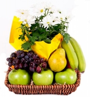 Fruits & Flowers Gift Basket