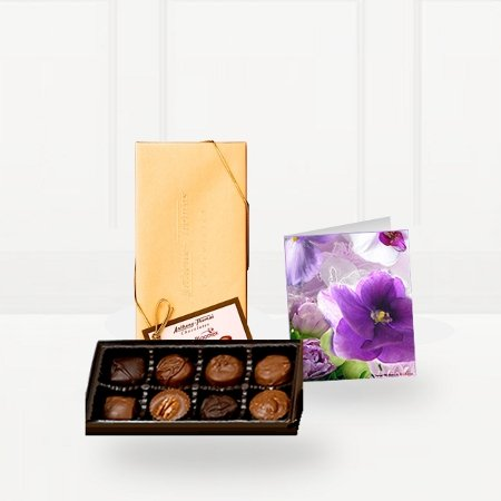 Premium Chocolates with Greeting Card