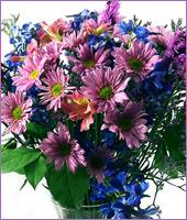 Blue and Lavender Bouquet