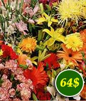Flowers for 64$