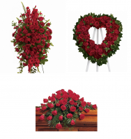 Faithful Rose Funeral Flower Package
