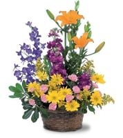 Basket of Mixed Flowers