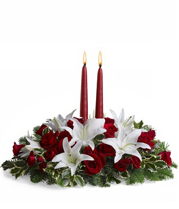 Luminous Lilies Centrepiece