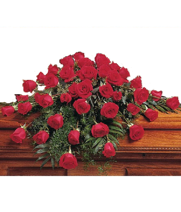Faithful Memories Casket Arrangement