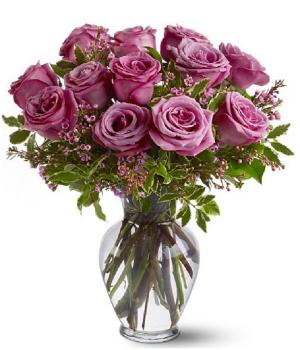 Una Docena de Rosas de Lavanda de Tallo Largo
