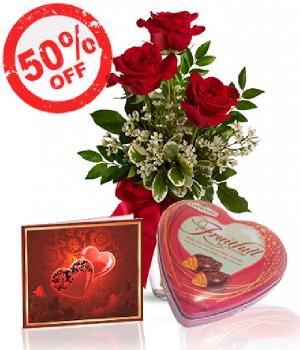 Oferta Rosas y Chocolates